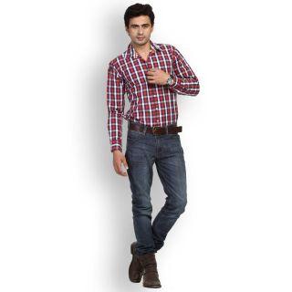Fast N Fashion Upscale Cotton Red Checks Shirt