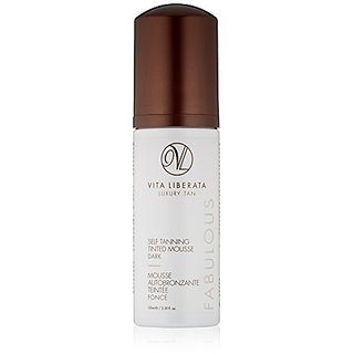 Vita Liberata Fabulous Self Tanning Tinted Mousse, Dark, 3.38 fl. oz.
