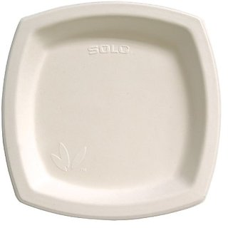SOLO 8PSC-2050 Bare Sugarcane Dinnerware, 8.25, Ivory (Case of 500)