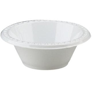 Huhtamaki 81212 12-Ounce Capacity White Color First Choice Heavyweight Plastic Bowl 125-Pack (Case of 8)