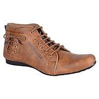 Admire Men Tan Lace-up Casual Shoes