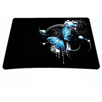 Blue Butterfly Print Waterproof Anti-Slip Mouse Pad Mice Pad Mat Mousepad For Optical Laser Mouse MP-005