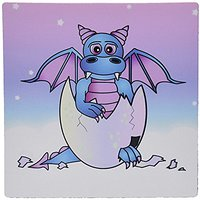 3dRose LLC 8 X 8 X 0.25 Inches Blue Baby Dragon In Cracked Egg Mouse Pad (mp_6091_1)