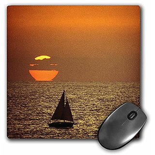 3dRose LLC 8 x 8 x 0.25 Inches A Sailboat At Sunset In California David R Frazier Mouse Pad (mp_88338_1)