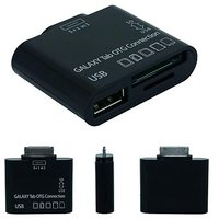 Skque 5 In 1 Card Reader OTG Connection Kit For Samsung Galaxy Tab 7.0 Plus P6210 P6200 7.7 P6800 P6810 8.9 P7310 P7300