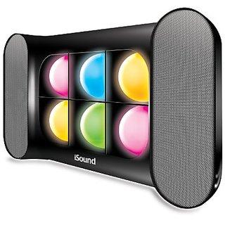 iSound iGlowSound Pro Dancing Light Bluetooth Speaker (Black)