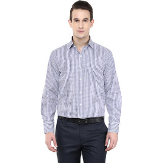 Richlook White Full Sleeves Regular Fit Shirt For Men