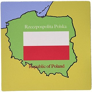 3dRose the Map and Flag of Poland with the Republic of Poland Printed in English and Polish Mouse Pad (mp_39218_1)