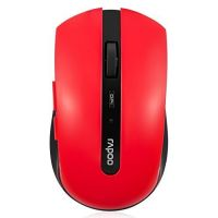 Auawak Rapoo 7200P 5G Wireless Ergonomic Programmable Optical Engine Mouse For Laptops Desktops And PC - Red
