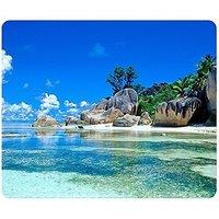 Beaches France Seychelles Mousepad,Custom Rectangular Mouse Pad