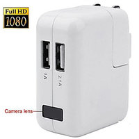 USB AC Charger 1080P Camera Hidden DVR, EU/US/UK Plug Charger Spy Camera Can Work During Charger Camera,1080p