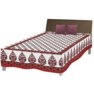 Jaipuri Single Cotton Bed Sheet Bed Spread Srb2055