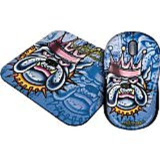 Ed Hardy PAC10A07F Cable Mouse and Pad 2-In-1 Value Bundle