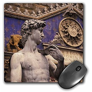 3dRose LLC 8 x 8 x 0.25 Italy Florence Piazza della Signoria David Walter Bibikow Mouse Pad (mp_82241_1)