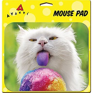 Ata-Boy Avanti Cards Rainbow Tongue Kitty Mouse Pad