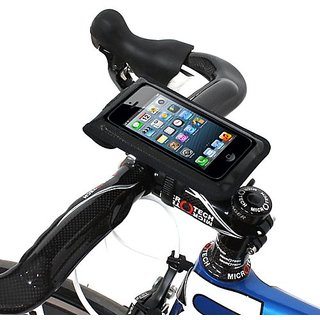 Satechi Bikemate Zip 4x6 Universal Bicycle Mount (Black) for iPhone 5S, 5C, 5, 4S, BlackBerry Torch, HTC EVO,...