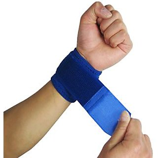 Futaba Adjustable Sport Wrist Brace Wrap Bandage - Blue