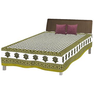 Jaipuri Single Cotton Bed Sheet Bed Spread Srb2058