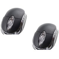 2 Pack Allen 3-Button 3D USB 800 Dpi Wired Optical Scroll Mice Mouse For Notebook Laptop Desktop