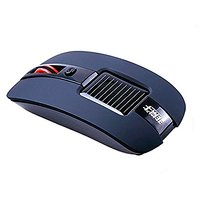 Kowellshine T003 Solar Mouse Solar Energy Mouse Solar Powered Mouse Wireless Mouse(with Kowell Label)--Black