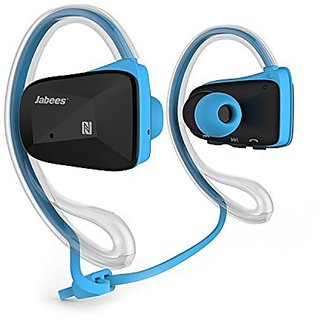 Jabees Bsport-BLE Bluetooth V4.1 Lightweight Stereo Headphones with NFC Blue