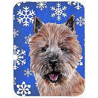 Carolines Treasures Norwich Terrier Winter Snowflakes Mouse Pad/Hot Pad/Trivet (SC9782MP)