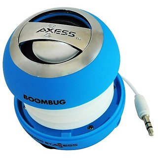 Boombug By Axess Portable Mini Premium Speaker (Light Blue) Rechargable Battery Compatable with all iPods, iPhones...