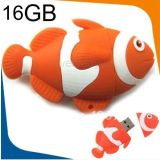 Microware Computer Services16gb Fish Shape Nemo Designer Pen Drive Fancy Pen Drive