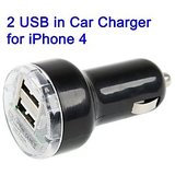 New 2 Double Dual Usb Car Charger Mini Adapter 21a Iphone 4 3gs 3g Ipad Mobiles