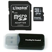 Kingston Micro SD MicroSD TF Flash Memory Card 32GB 32G Class 4 For ABLEGRID GS8000L Night Vision HD 1080P Dashcam Camer