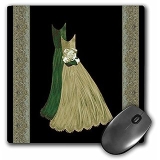 3dRose LLC 8 x 8 x 0.25 Inches Mouse Pad, Khaki and Forest Green (mp_30124_1)