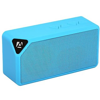 Aduro SoundBlock Portable Wireless Bluetooth Compact Speaker (Retail Packaging) Blue