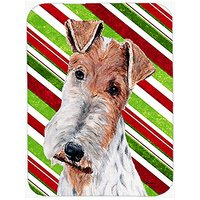 Carolines Treasures Wire Fox Terrier Candy Cane Christmas Mouse Pad/Hot Pad/Trivet (SC9796MP)