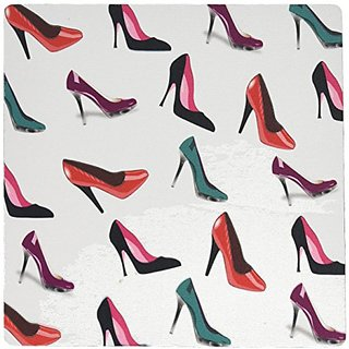 3dRose Print of High Heels In Colors Repeat Pattern Mouse Pad (mp_195462_1)