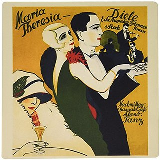3dRose LLC 8 x 8 x 0.25 Inches Mouse Pad, Image of German Art Deco with Man and Woman Dressed Up and Dancing (mp_163478_