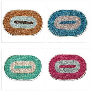 Living Creation Super Quality Door mat Set of 4 Pc