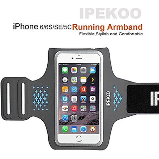 IPhone 6 / 6 Plus Armband, IPEKOO Sports Armband for Apple iPhone 6s Plus / 6 Plus/ 6, Key Holder & Card Slot,Splash-pro