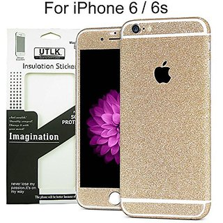 UTLK iPhone 6 Glitter Decal Full Body Luxury Bling Crystal Diamond Screen Protector Film Sticker for Iphone 6 Bling Deca
