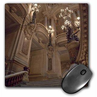3dRose LLC 8 x 8 x 0.25 France Paris Opera Garnier Interior Jaynes Gallery Mouse Pad (mp_81387_1)