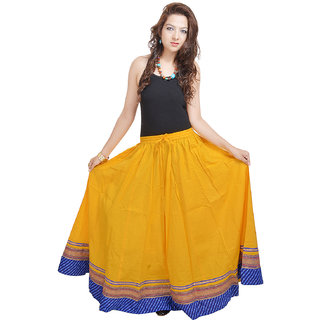 Shree Fashion Art Yellow Designer Skirt