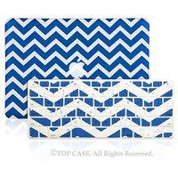 TopCase 2 In 1 - Chevron Series Ultra Slim Light Weight Hard Case Cover Plus Matching Color Chevron Zig-Zag Keyboard Cov