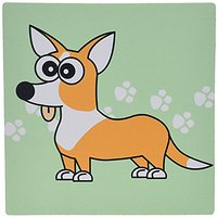 3dRose LLC 8 X 8 X 0.25 Inches Tan Cardigan Corgi With Paw Prints Mouse Pad (mp_6161_1)