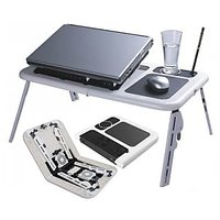 E Table - Foldable & Portable Laptop Stand/ Portable Laptop Table/ Laptop Holder/ Bed Table /Reading Table