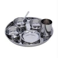 100% Stainless Steel 7 PC Dinner Thali