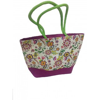 Jute Multi Color Shopping Bag