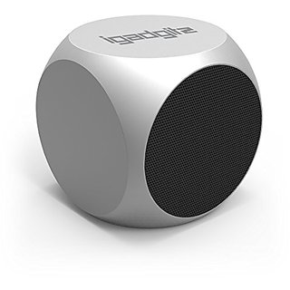 iGadgitz Al Series: The Cube Portable Wireless Stereo Bluetooth Brushed Aluminium Travel Speaker (3W Power with Rich Bas