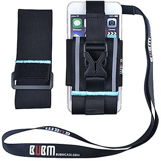Running & Exercise Armband, BUBM Running Case Holder Armband Smartphone Sports Armband with Lanyard for Samsung Galaxy,