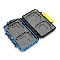 COZYSWAN 3950760 Water-Resistant Shockproof Memory Card Case Storage For 4 Piece CF Card 4 Piece SD Card 4 Piece XD Pict