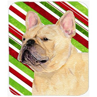 Carolines Treasures Mouse/Hot Pad/Trivet, French Bulldog Candy Cane Holiday Christmas (SS4554MP)