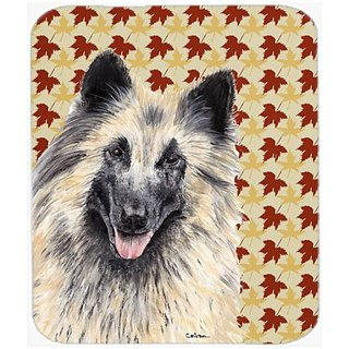 Carolines Treasures Belgian Tervuren Fall Leaves Portrait Mouse Pad/Hot Pad/Trivet (SC9233MP)